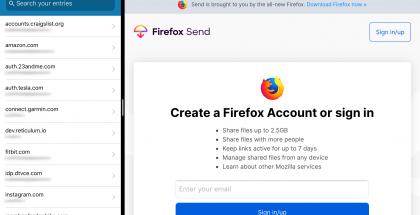 Jaetun näytön tila Firefoxissa.