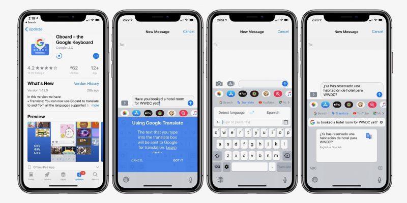 Gboard iPhonelle sai kääntäjätoiminnon.