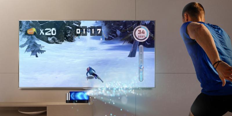 3D-kamera mahdollistaa liikeohjattavat pelit.