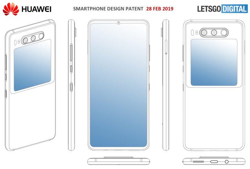 Huawein patentti esittelee kaksinäyttöisen älypuhelimen.
