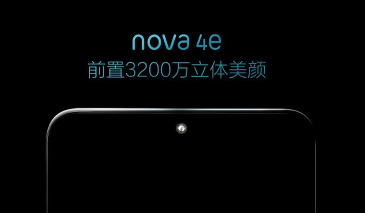 Huawein ennakko kertoo Nova 4e -älypuhelimen sisältävän 32 megapikselin etukameran.