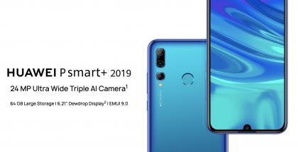 Huawei P Smart+ 2019 on varustettu kolmella takakameralla.