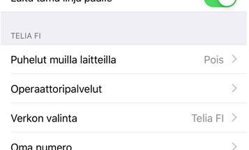 iPhonet tukevat nyt 4G VoLTE -puheluja Telian kanssa.