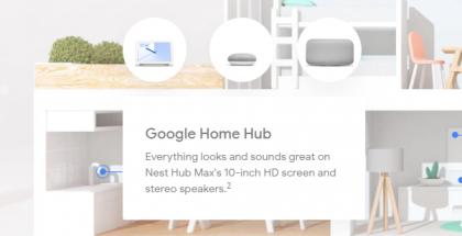 Nest Hub Max mainittu jo Googlen sivuilla.