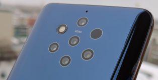 Nokia 9 PureView on ensimmäinen älypuhelin viidellä takakameralla.