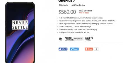 OnePlus 7 -tiedot GizTopissa. Mitään näistä ei kannata uskoa, vaikka osa osuukin tuurilla oikeaan.