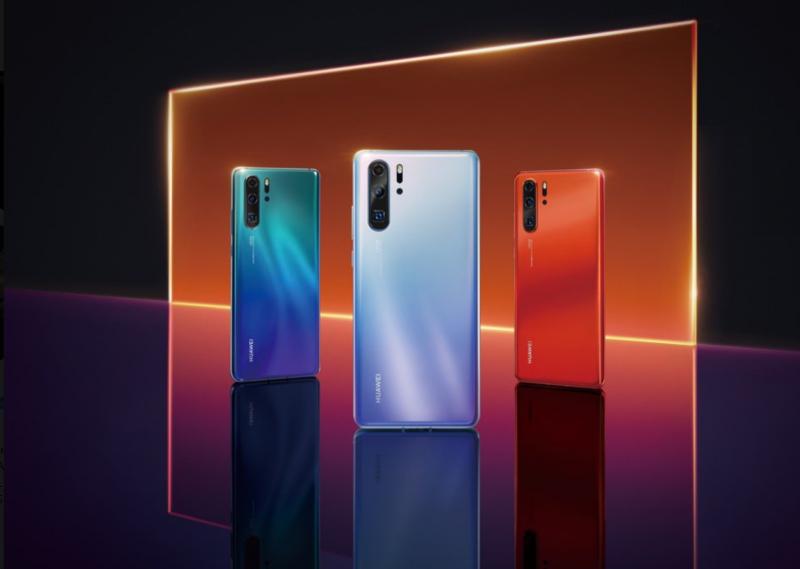 Huawei P30 Pron värivaihtoehtoja.