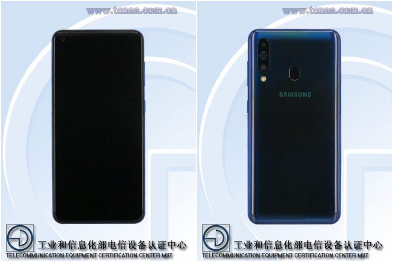 Samsungin todennäköinen Galaxy A60 mallikoodilla SM-A6060 TENAA-kuvissa.
