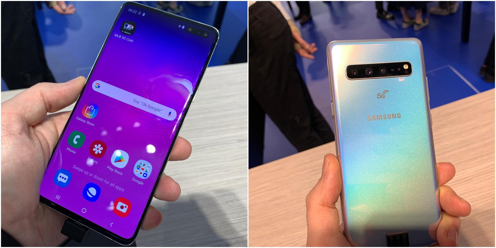 Samsung Galaxy S10 5G:ssä on muöd muita S10-malleja suurempi näyttö ja enemmän kameroita.