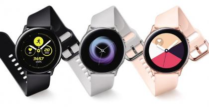Samsung Galaxy Watch Activen eri värivaihtoehdot.