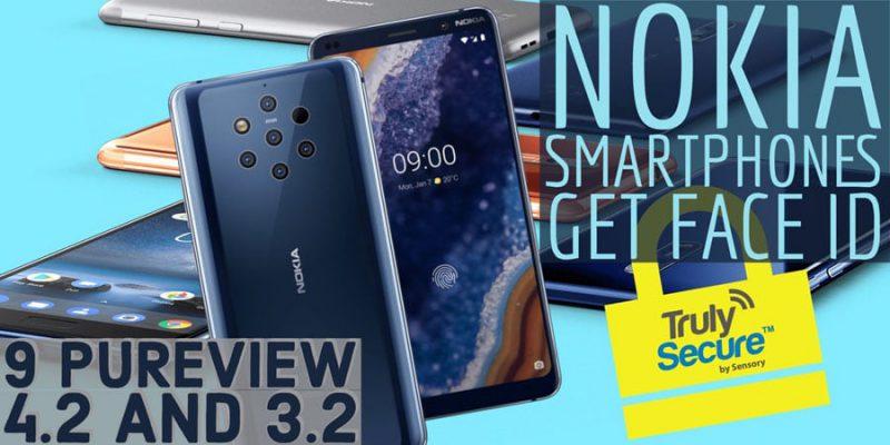 Nokia 9 PureView on yksi Sensoryn kasvojentunnistusteknologialla varustetuista uutuuksista.