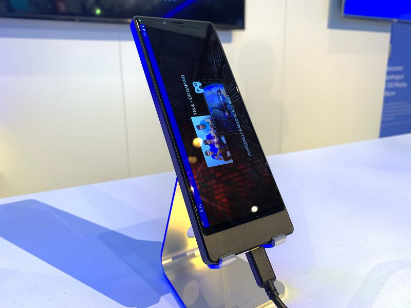 Sonylta 5G-älypuhelin nähtiin vasta prototyyppinä.