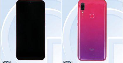 Redmi 7 -mallinimellä todennäköisesti julkistettava älypuhelin TENAA-viranomaisen kuvissa.
