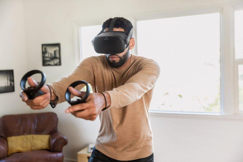 Oculus Quest toimii täysin langattomasti ja itsenäisesti.