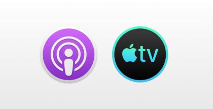 9to5Macin julkaisema kuva uusista macOS:n Podcastit- ja TV-sovellusten kuvakkeista.
