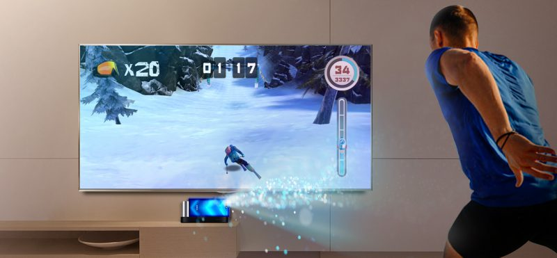 3D ToF -kamera pystyy havaitsemaan liikkeet, joilla pelihahmoa ohjataan.