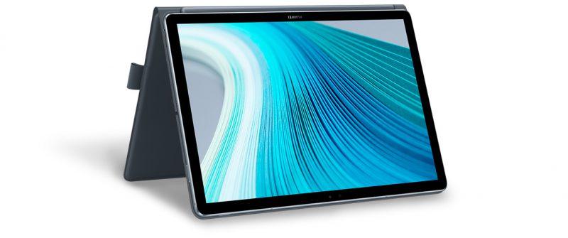 Huawei MateBook E 2019 taipuu myös tällaiseen käyttöasentoon.