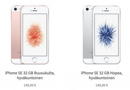 iPhonen 12 kuukauden takuulla saa nyt alle 150 euron hinnalla.