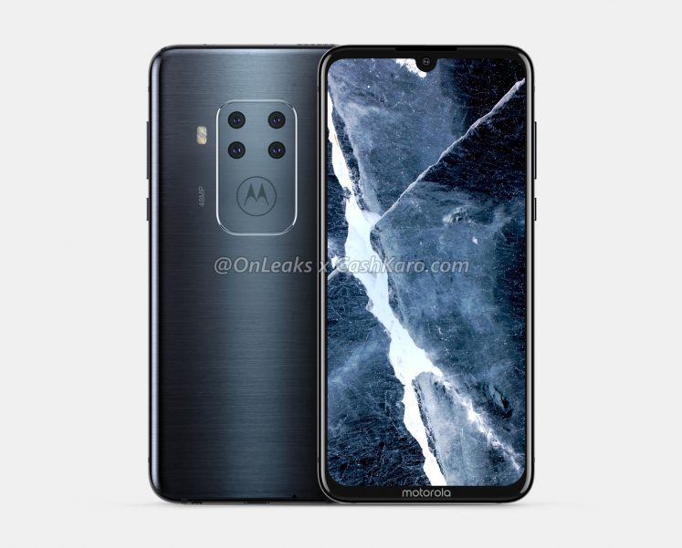 Uusi Motorola-älypuhelin neljällä takakameralla. Kuva: OnLeaks / Cashkaro.com.