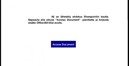 Jaettava PDF-tiedosto sisältää vain linkin tietoja kalastelevalle sivulle.