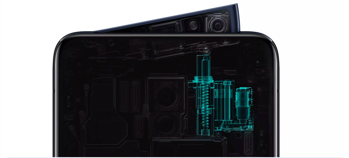 Oppo Reno -puhelimissa on uudella tavalla toteutettu esiin nouseva etukamera.