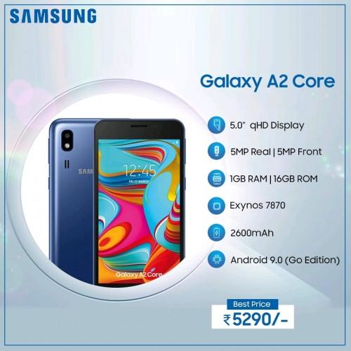 Galaxy A2 Coren teknisiä tietoja.