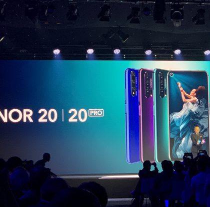 Honor julkisti Honor 20 -sarjan älypuhelimet – varustettu jopa neljällä takakameralla