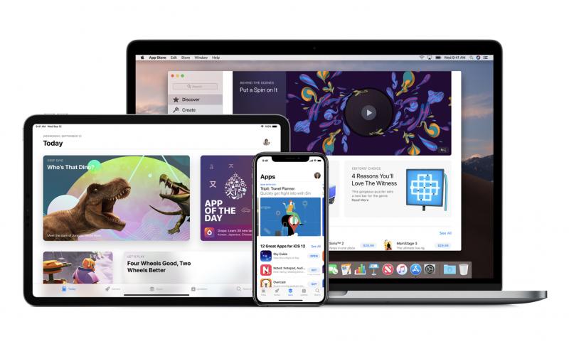 Applen App Store eri laitteissa.
