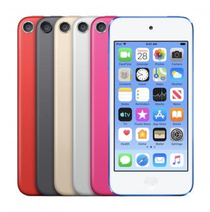 iPod touchin värivaihtoehdot.
