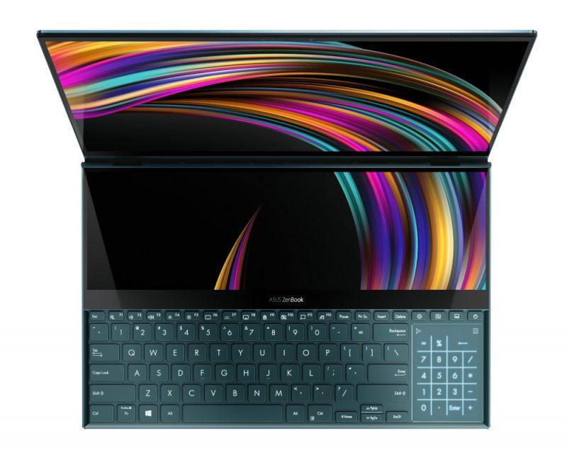 Asus ZenBook Pro Duossa on 16:9- ja 32:9-kuvasuhteen näytöt.