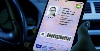 Mobiiliajokortti Autoilija-sovelluksessa.
