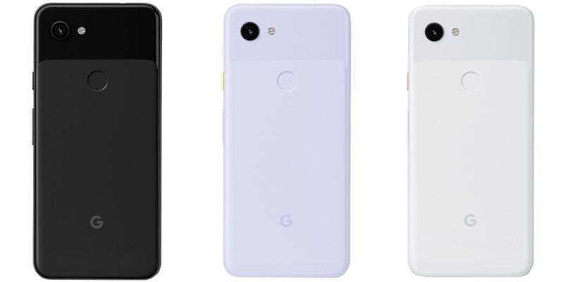Pixel 3a -puhelinten värivaihtoehdot. Kuvissa Pixel 3a XL.