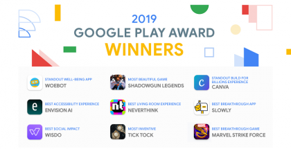 Google Play Awards 2019 -voittajat.
