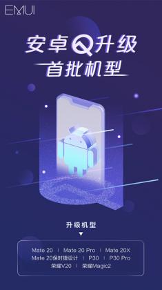 Huawei kertoi Android Q -päivitysten ensiaallosta.