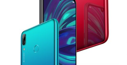 Huawei Y7 2019 eri väreissä.