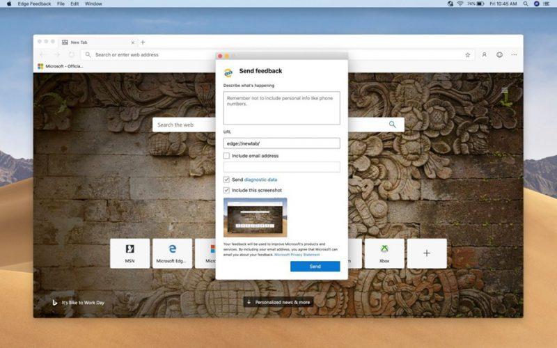 Uusi Microsoft Edge Macille. Kuva: Windows Central.