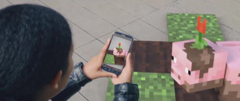 Ensivilaus lisätyn todellisuuden Minecraft-pelistä?