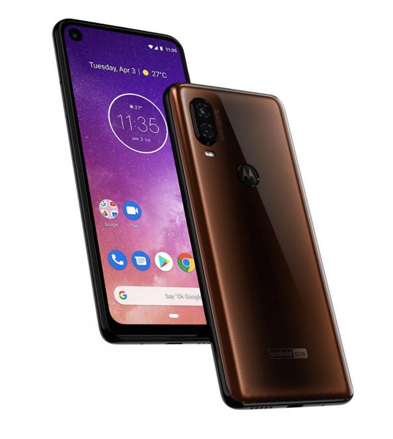 Motorola One Vision pronssivärinä.