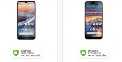 Nokia 3.2 ja Nokia 4.2 kuuluvat Android Enterprise Recommended -ohjelmaan.