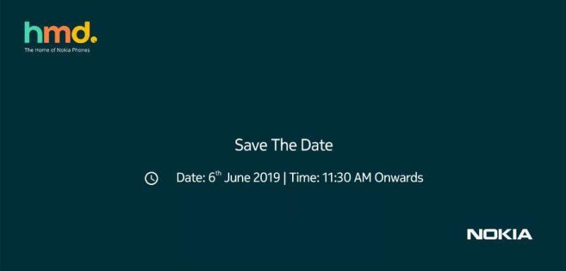 HMD Globalin 6. kesäkuuta Intiassa järjestettävän tilaisuuden kutsukuva.