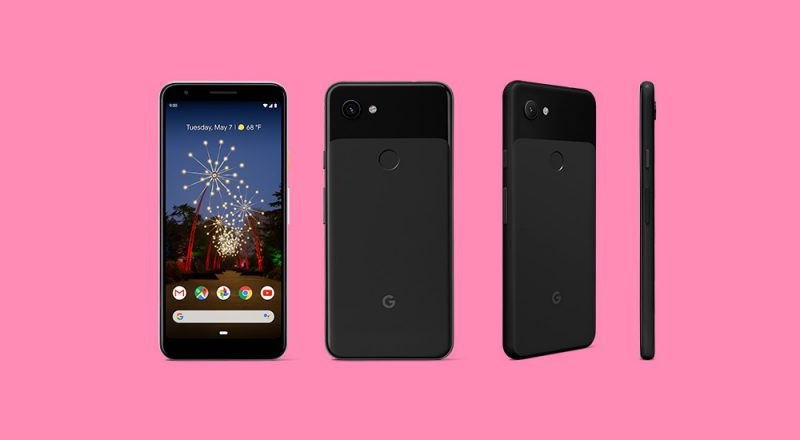 Pixel 3a mustana (Clearly Black). Kuva: Droid-Life.