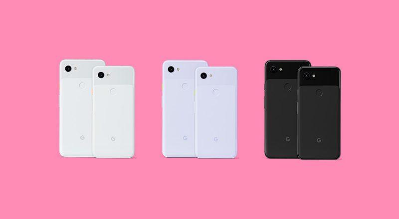 Pixel 3a XL ja Pixel 3a eri väreissä. Kuva: Droid-Life.