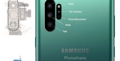 Tältä Galaxy Note10:n kameraratkaisu voisi näyttää.