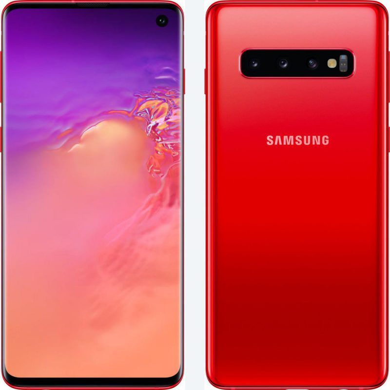 Samsung Galaxy S10+ Cardinal Red.