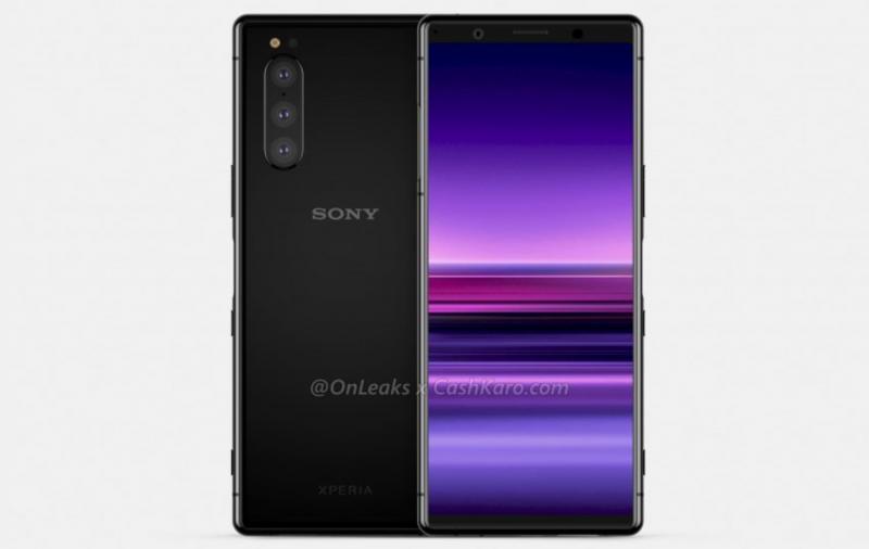 Tuleva Sony-huippupuhelin. Kuva: OnLeaks / CashKaro.