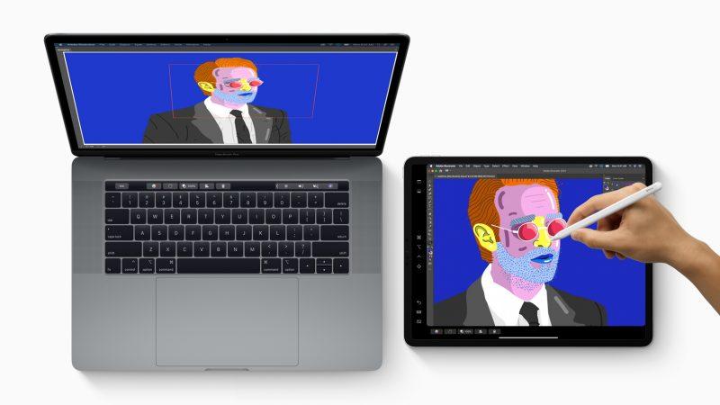 Uusi Sidecar-toiminto mahdollistaa iPadin käytön Macin lisänäyttönä.