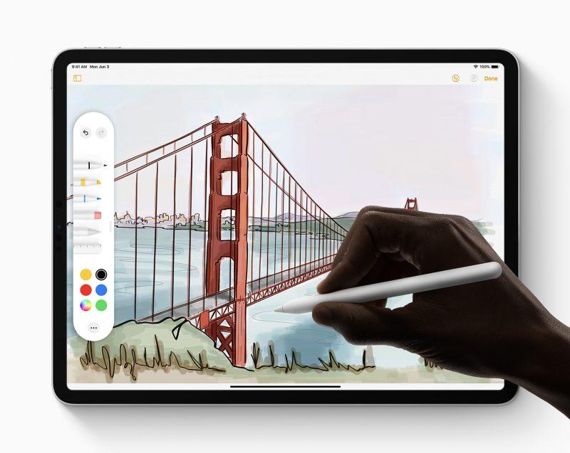 Uusi käyttöliittymä Apple Pencil -kynälle.