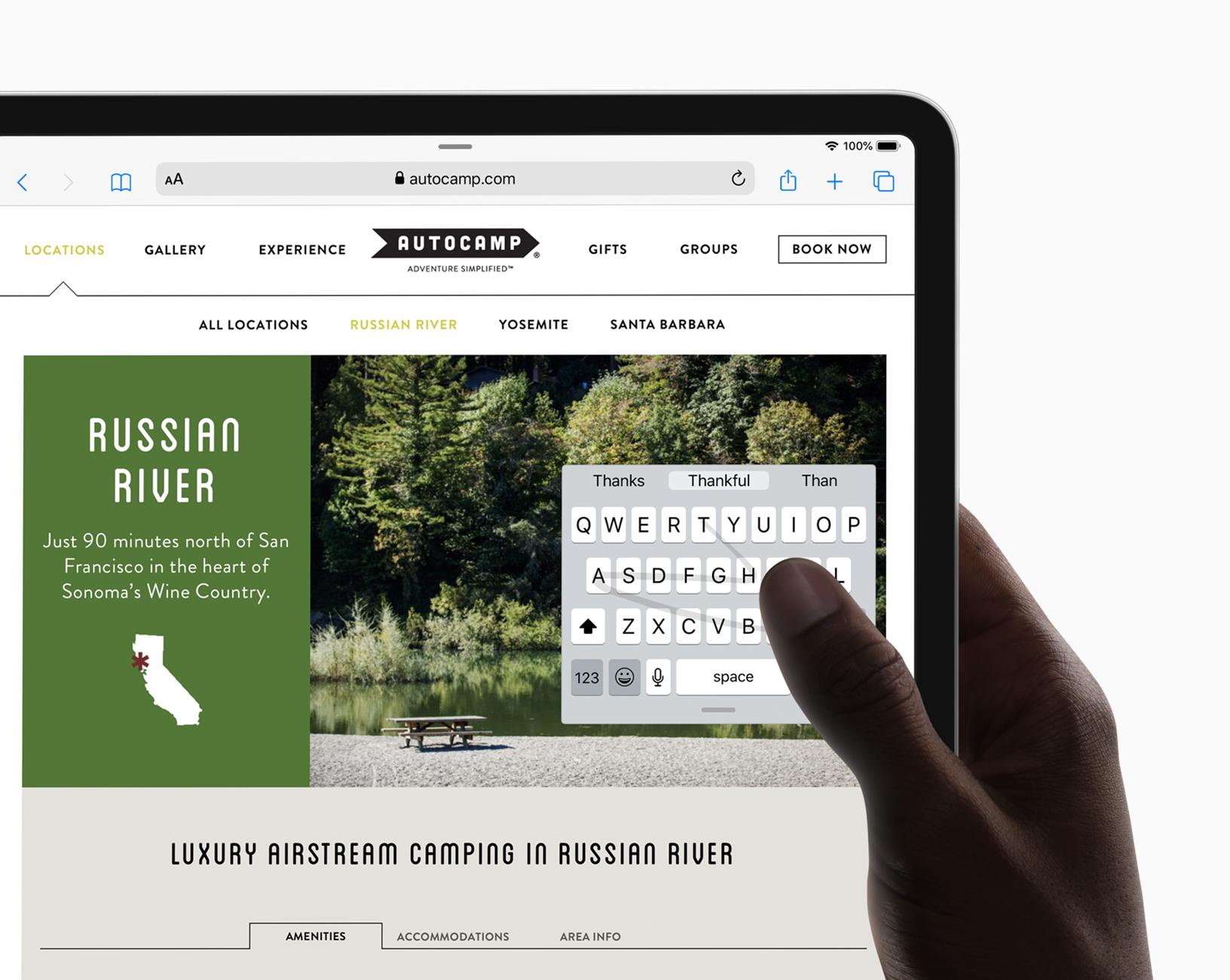 Voit kytkeä ulkoisen näppäimistön iPad