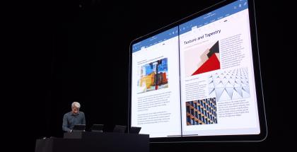iPadOS mahdollistaa myös esimerkiksi kahden Word-asiakirjan työstämisen rinnakkain.