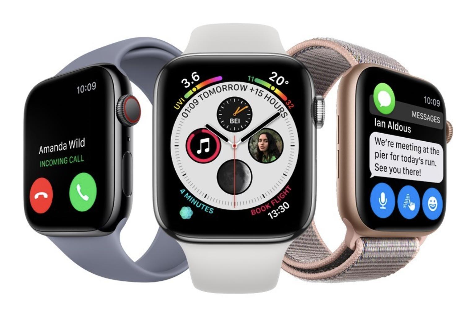 Tulevaisuuden Apple Watchiin odotetaan MicroLED-näyttöä. Kuvassa toistaiseksi uusin Apple Watch Series 4.